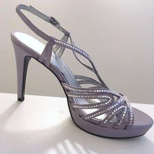 NWOB Adrianna Papell Platform Strappy Silver Heels